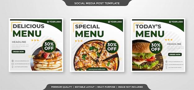 Bannière instagram publicités de promotion des médias sociaux