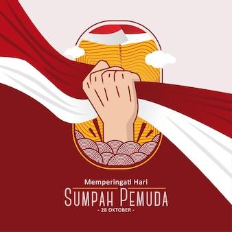 Bannière instagram sumpah pemuda day octobre 1