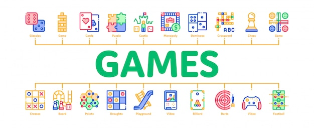 Bannière interactive de jeux pour enfants