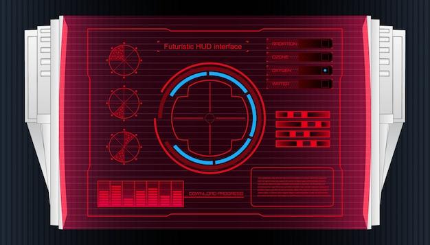 Bannière d'interface utilisateur hud d'interface de technologie futuriste.
