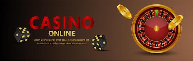 Bannière de jeu en ligne de jeu de casino