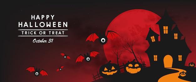 Bannière de jour d'halloween heureux