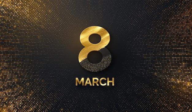 Bannière De La Journée De La Femme Du 8 Mars Vecteur Premium