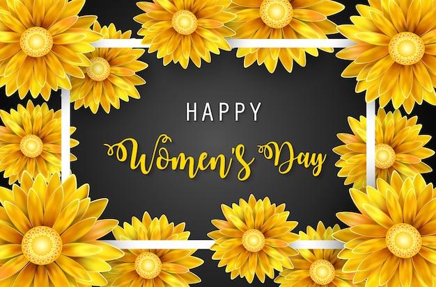 Bannière de la journée de la femme