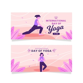 Bannière de la journée internationale du yoga