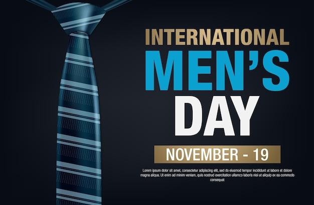 Bannière de la journée internationale des hommes. lettrage du jour des hommes