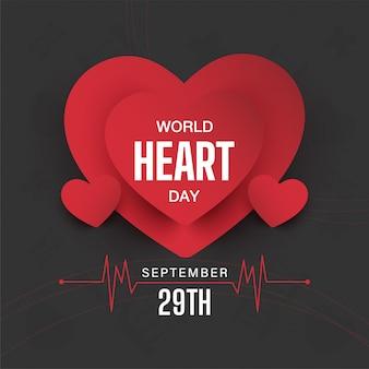 Bannière de la journée mondiale du cœur. illustration