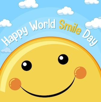 Bannière de la journée mondiale du sourire