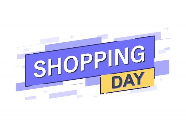 Bannière de la journée de shopping
