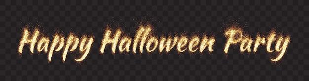 Bannière joyeuse fête d'halloween