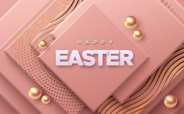 Bannière de joyeuses fêtes de pâques