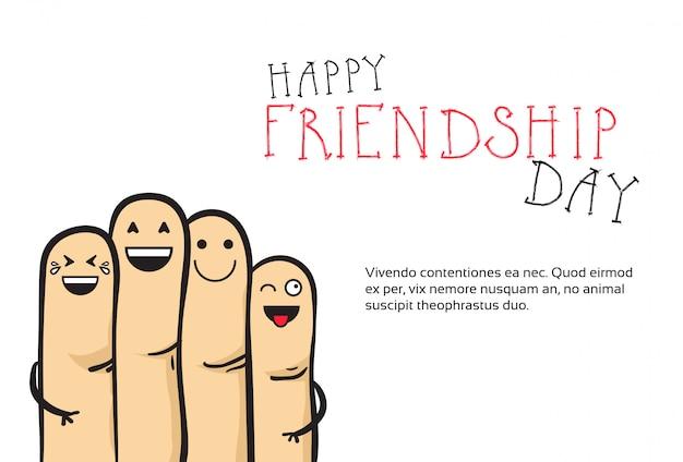 Bannière de joyeux jour de l'amitié carte de voeux amis de vacances