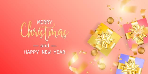 Bannière joyeux noël et bonne année