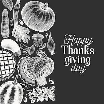 Bannière de joyeux thanksgiving day.
