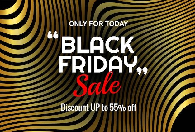 Bannière de lable vente vendredi noir moderne