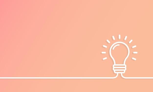Bannière de lampe. idée intéressante. bannière brillante d'éducation ou d'invention d'ampoule. vecteur sur fond isolé. eps 10.