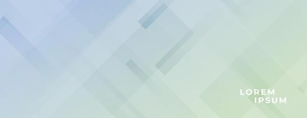 Bannière large et douce avec effet de lignes diagonales