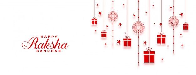 Bannière large du festival indien heureux raksha bandhan