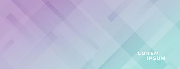 Bannière large moderne abstraite dans des couleurs pastel et des lignes diagonales