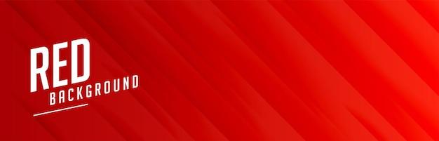 Bannière large rouge avec motif de lignes