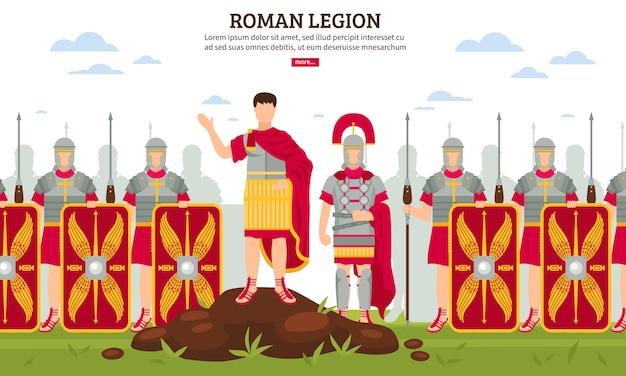 Bannière de la légion de la rome antique