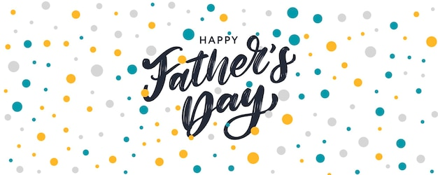 Bannière de lettrage de fête des pères heureux