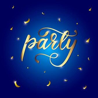 Bannière de lettrage party.