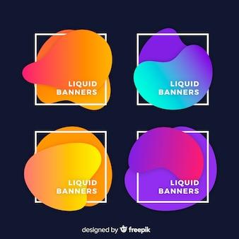 Bannière liquide abstraite