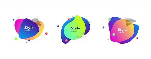 Bannière liquide colorée vibrante