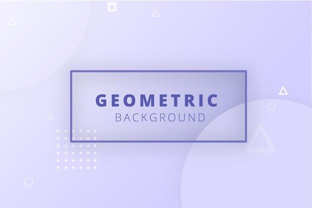 Bannière lisse géométrique