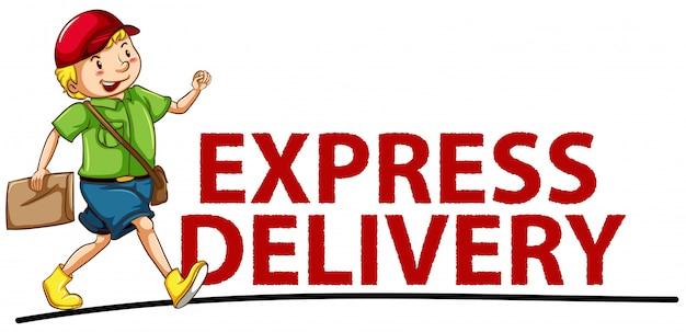 Bannière de livraison express