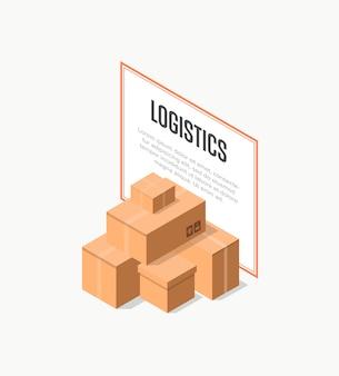 Bannière logistique de livraison commerciale