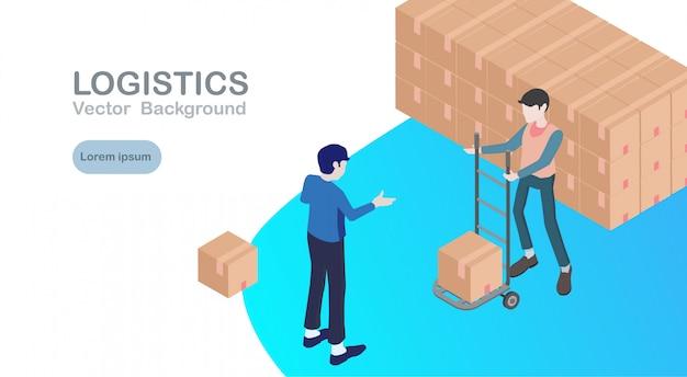 Bannière logistique et livraison