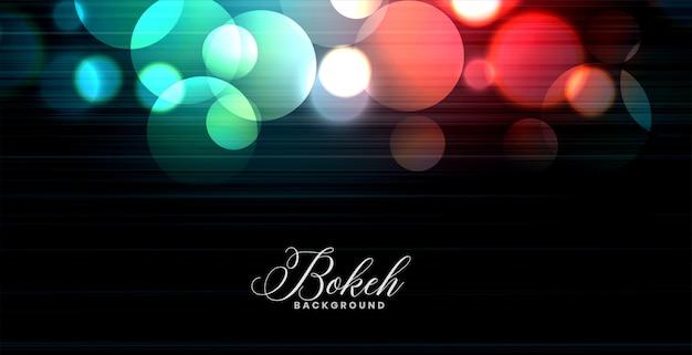 Bannière de lumières bokeh coloré rougeoyant abstrait