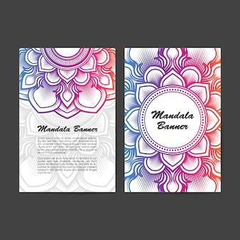 Bannière mandala à dégradé de couleur