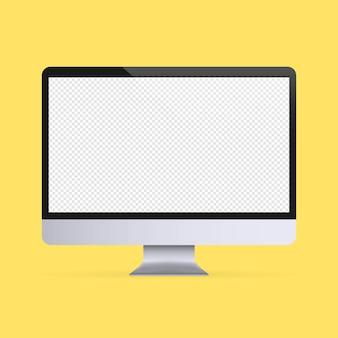 Bannière de maquette d'écran d'ordinateur. icône de l'appareil. vecteur sur fond isolé. eps 10.