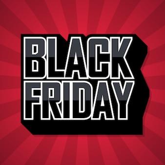Bannière Marketing Black Friday Sale Red Vecteur Premium