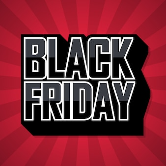 Bannière marketing black friday sale red