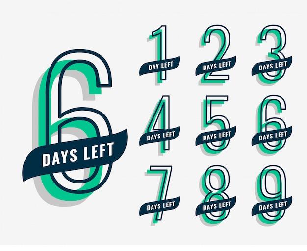 Bannière de marketing événementiel à venir avec le nombre de jours restants