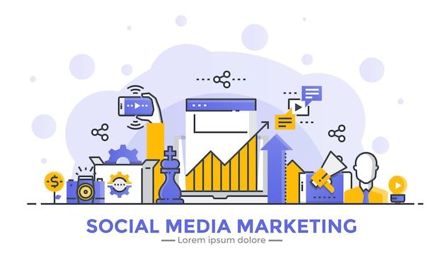 Bannière de marketing des médias sociaux