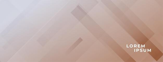 Bannière marron abstraite avec effet de lignes