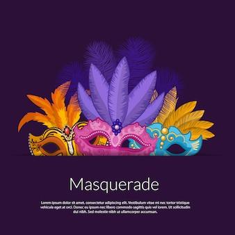 Bannière de masques de carnaval