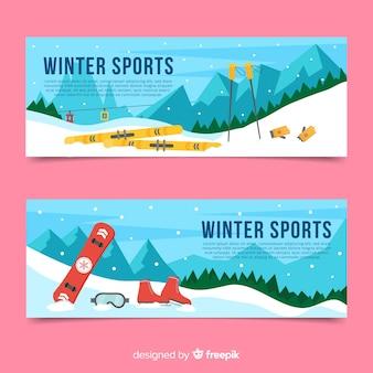 Bannière de matériel de sport enterré