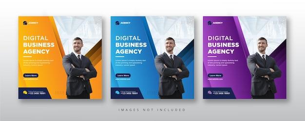 Bannière de médias sociaux de l'agence de marketing numérique
