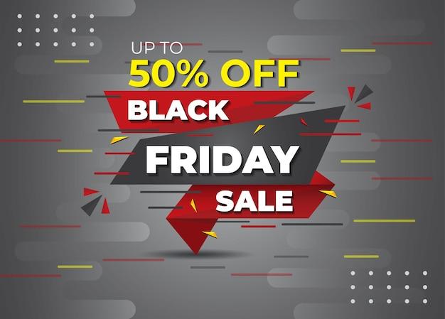Bannière de médias sociaux d'élément de black friday symbole d'insigne de black friday offre la conception de poste black friday