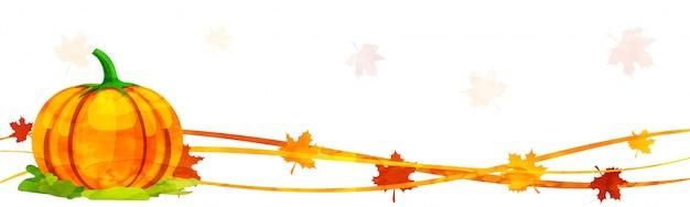 Bannière des médias sociaux pour la célébration du jour de thanksgiving.