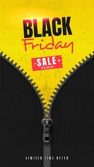 Bannière de médias sociaux pour le vendredi noir