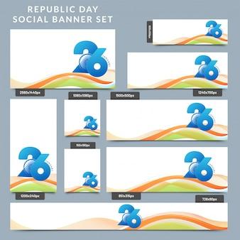 Bannière de médias sociaux avec texte le 26 janvier.