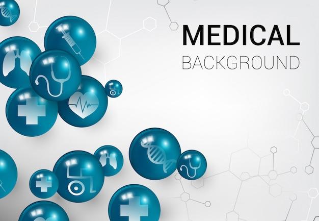 Bannière médicale sur fond blanc