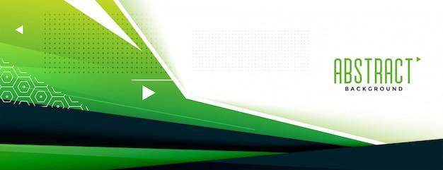 Bannière memphic géométrique verte abstraite